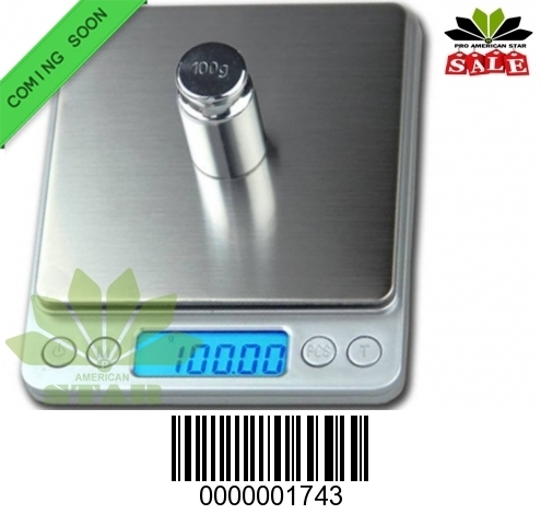 100g Square Silver body Smart Digital Pocket Scale-JK-1743