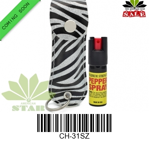 Pepper Spray with leather holder and key chain-JR-31SZ