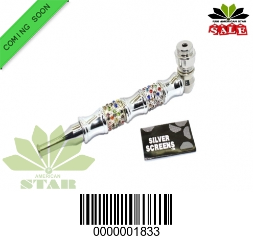 Fancy Metal handpipe with Diamond outfit-CH-1833