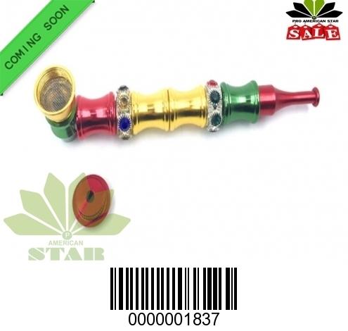Rasta color stainless steel handpipe-CM-1837