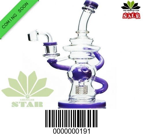 Ten  inches Fab Recycler  Dimond perc Filtration Oil Rig-BL191