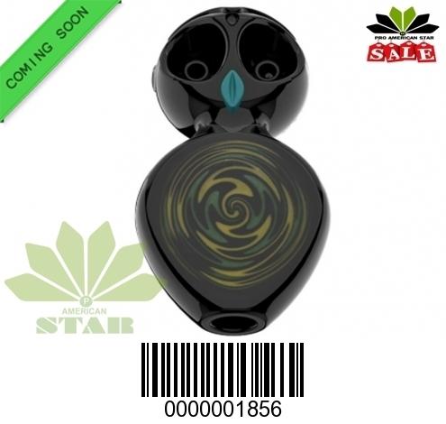Black Owl dual bowl handpipe-VJ-1856