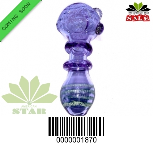 3.5 Inches purple color with out side ring hand pipe-VJ-1870
