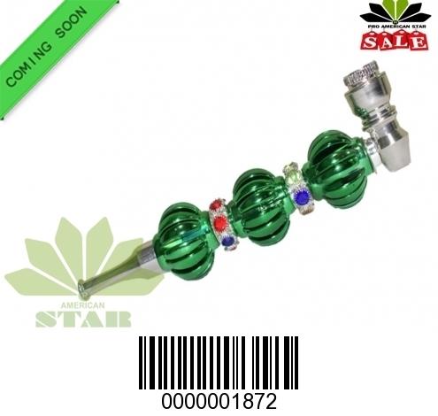 Triple ball green metal handpipe-CM-1872