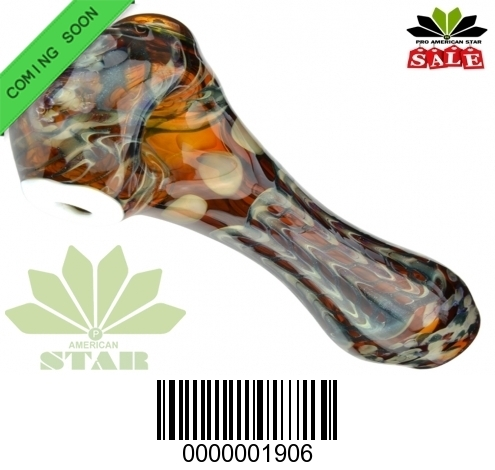 4 inches amber mix color hand pipe-VJ-1906