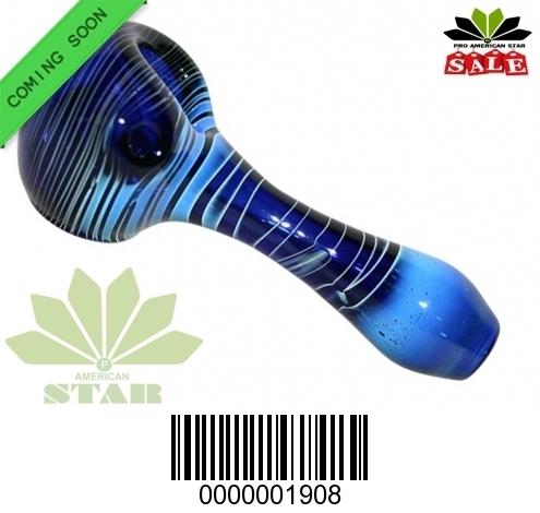 3.5 inches  blue stripes handpipe-VJ-1908