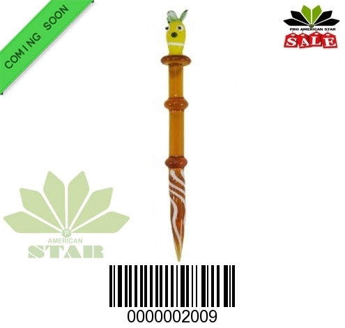 5 Inches Amber glass dabber-JK-2009