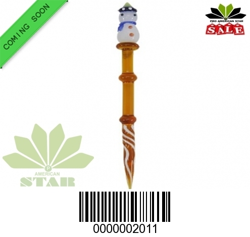 5 Inches Amber glass dabber-JK-2011
