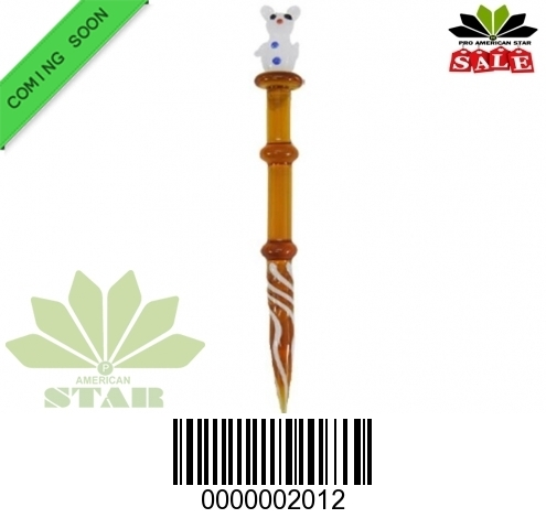 5 Inches Amber glass dabber-JK-2012