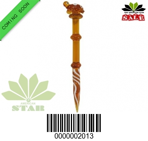 5 Inches Amber glass dabber-JK-2013