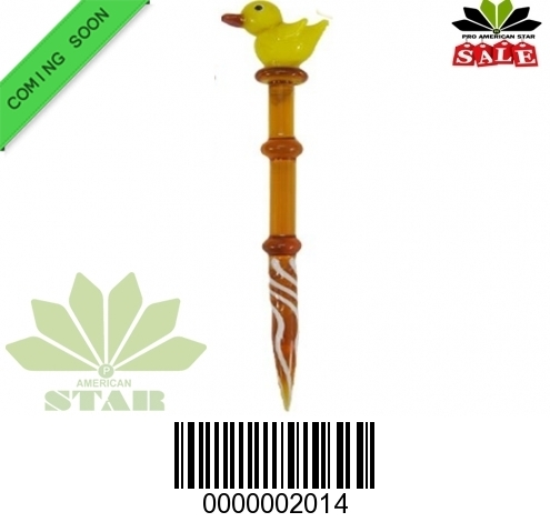 5 Inches Amber glass dabber-JK-2014