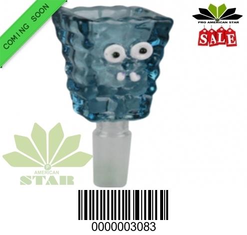 Blue Sponge Bob borosilicate glass bowl-JK-3083