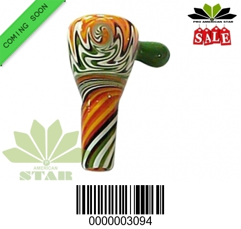 Mix color  Swirl  glass bowl with handle-JK-3094