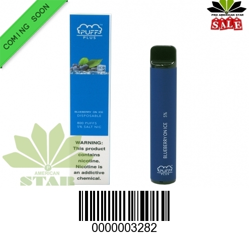 3.2 ML Blueberry on Ice  Puff Plus flavors VK-3282