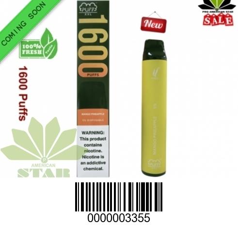 6.5 ML XXL 1600 Mango Pineapple Puffs disposable E-Cig- VK-3355