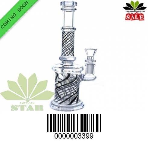 10 Inches Swirl glass water pipe-JK-3399