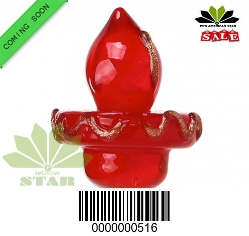 Colorful Universal Hat  Shape  Glass Carb Cap-JK-516