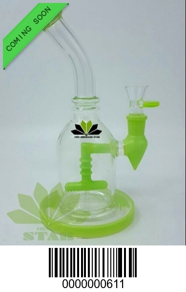 Eight Inches banger hanger Dab rig -Oil Rig -recycler Mini bong glass water pipe-BL-611