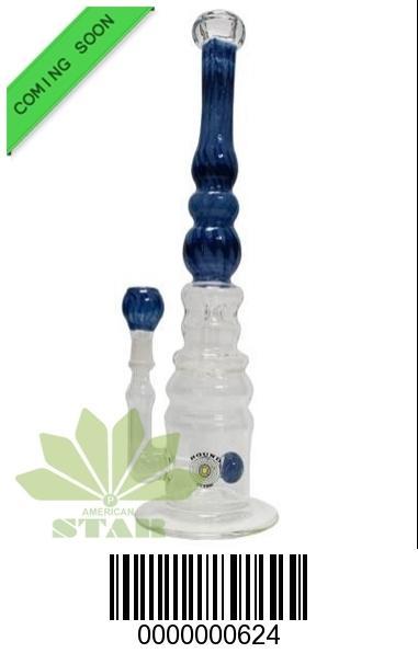 Fifteen inches bubble base glass bong-BL-624