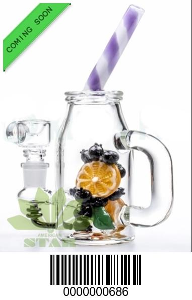 Mix fruit  mason Jar mini Dab Rig-HA-686