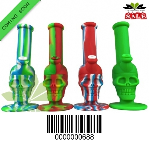 Multi Color Silicone Skull bong-JK-688