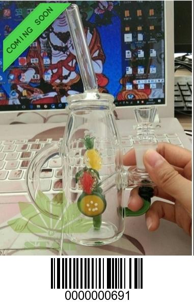 Mix fruit mason Jar mini Dab Oil Rig-HA-691