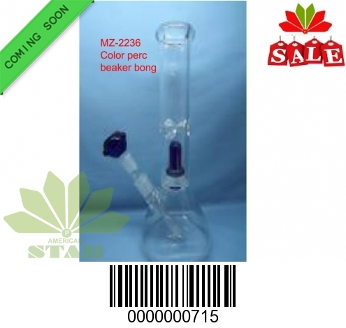 12 inches 7mm Color Shower head perc Pinch Ice Catcher with 55 mm base- EL-715
