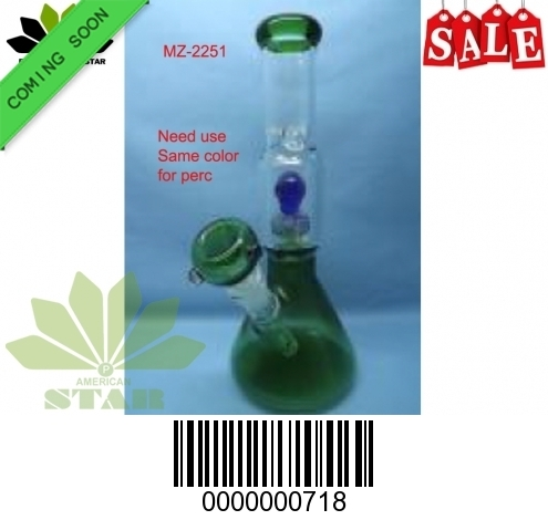 9.5 inches 7mm Color Shower head perc Pinch Ice Catcher with 55 mm base- EL-718
