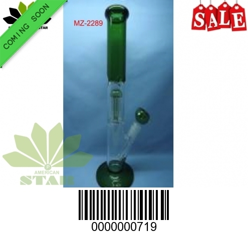 12 inches 7mm Color base, Color Mouth piece shower head perc, pinch ice catcher with 55 mm base-EL-719