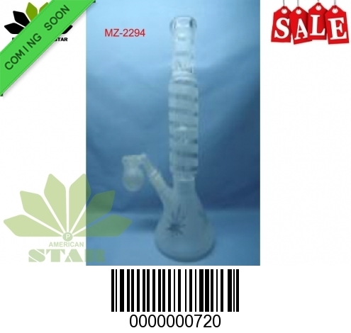 12 inches 7mm  Shower head perc Frosted Pinch Ice Catcher with 55 mm base- EL-720