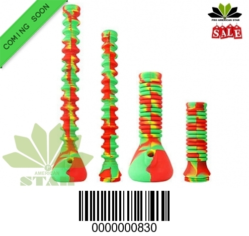 Folded Silicone Becker Water Pipe-JK-830