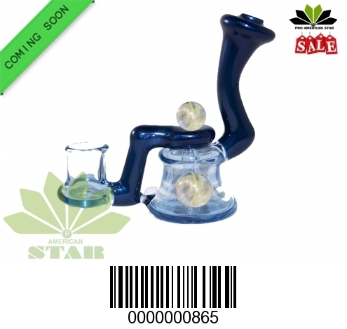 Ripple Disc Oil Rig,Dabbing Marble on the top-BL-865