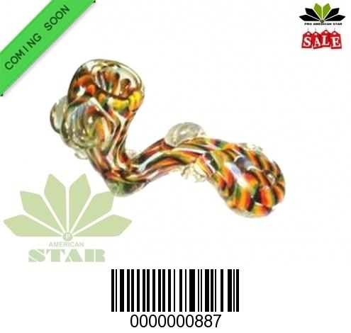 Multicolor Marble Ball  Sherlock Handblown Hand Pipe-VJ-887