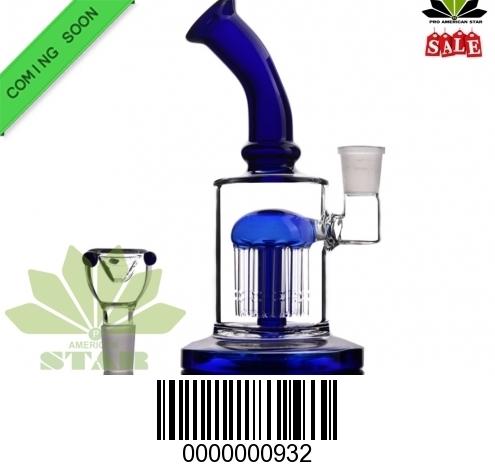 Blue Neck Seven Inches Shower Head Arms perc Banger Hanger-BL-932