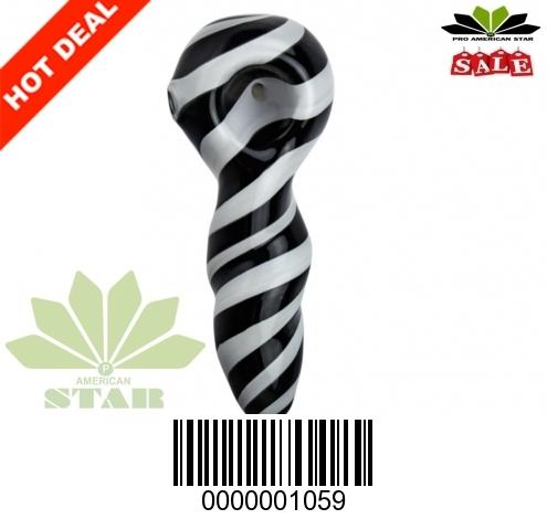 Four Inches spiral  zebra strips  hand pipe -VJ-1059