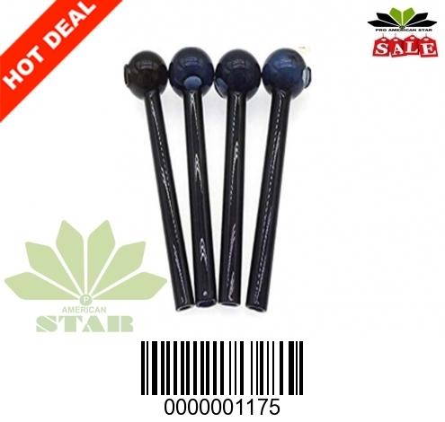 Black Nine Inches 40mm 2mm thick big whole Oil Burner-JK-1175