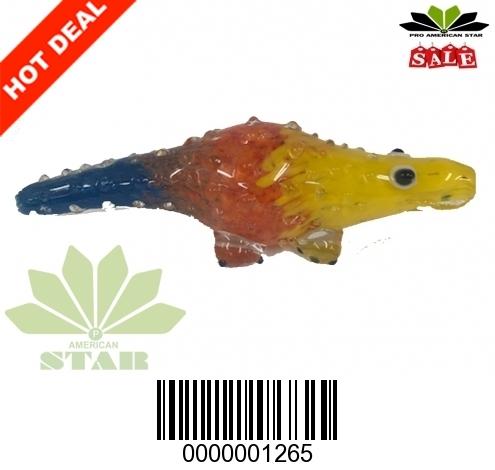 Alligator Glass Hand Pipe-VJ-1265