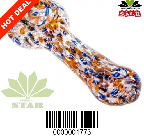 4.5 inches multi colored pattern hand pipe-VJ-1773