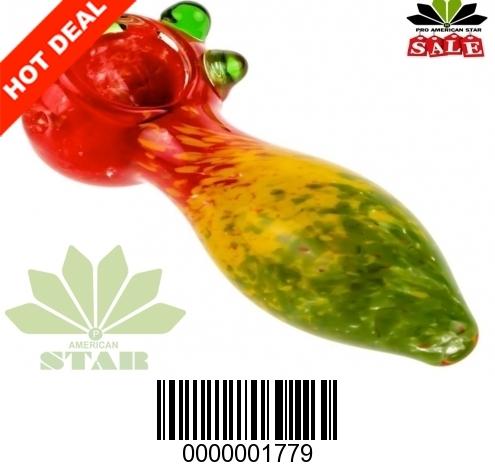 Big Belly Rasta Frit handpipe-VJ-1779