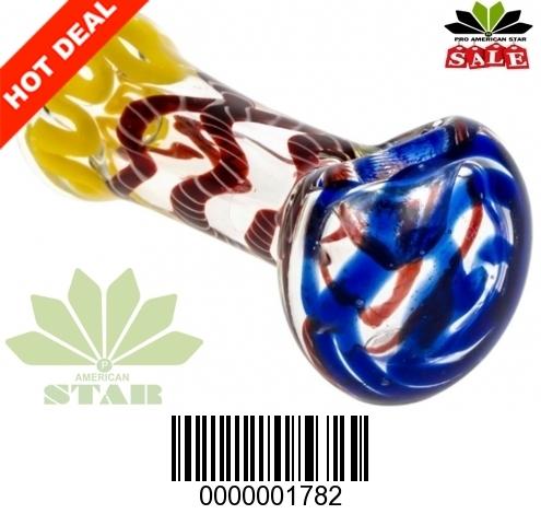 Blue red Yellow Swirl cane design-VJ-1782