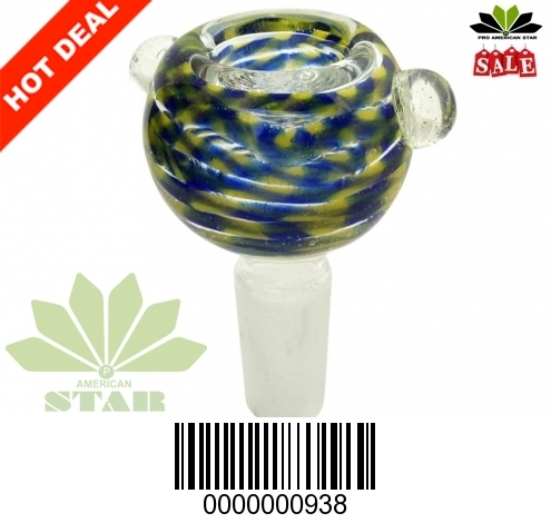 Thick Borosilicate multicolor Smoking Bowl-VJ-938