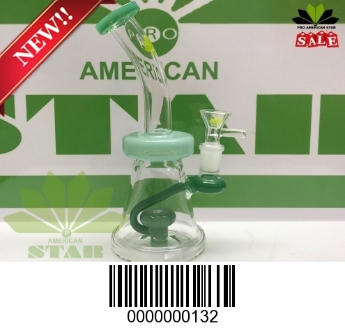 Six inches micro twisted oil rig( jade green)BL-132