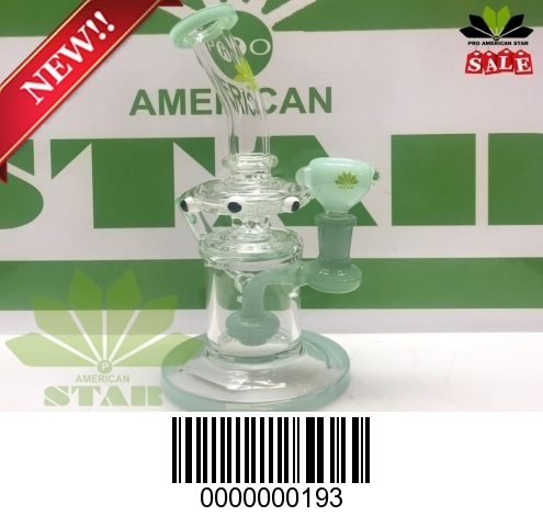 8 inches out side Twisted recycler BL-193