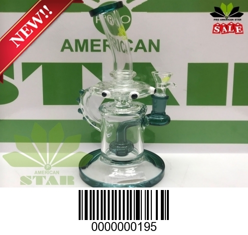 Six inches decorated banger hanger, recycler 195