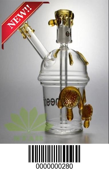 Honey dew  glass cup water pipe-JK-280