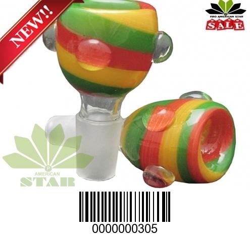 Rasta color Handblown art glass bowl-VJ-305