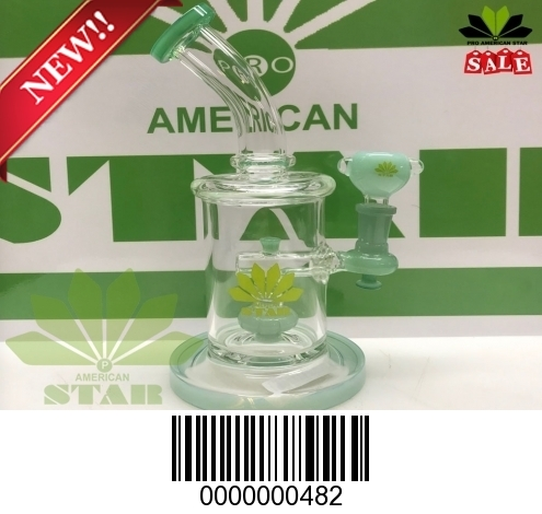 Eight Inches Dab rig -Oil Rig -recycler Mini bong glass water pipe-BL-482
