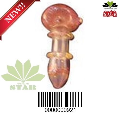 3.5 Inches Double Red  Fumed Double Ring band Blown Hand Pipe-VJ-921