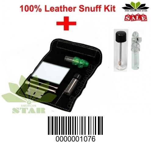 Black Leather Snuff kit AK-1076