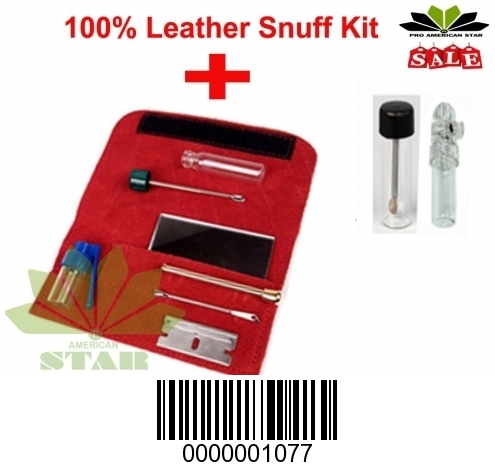 Red Leather Snuff kit AK-1077